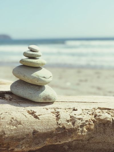 Beach Sea Balance Stack Tranquility Tranquil Scene Pebble Nature Ecuador Zen Idyllic Close-up Sand Outdoors