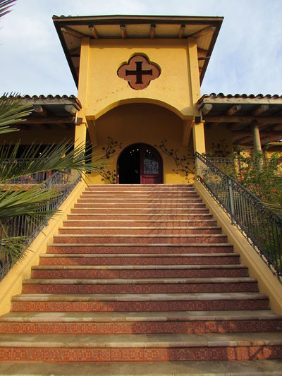 Steps And Staircases Steps Architecture Built Structure Travel Destinations Outdoors No People Landscape Holiday Streamzoo Vacations Chile Southamerica Viña Viña De Santa Cruz Building Exterior Vineyard Summer Eyeemphotography Staircase History Paint The Town Yellow