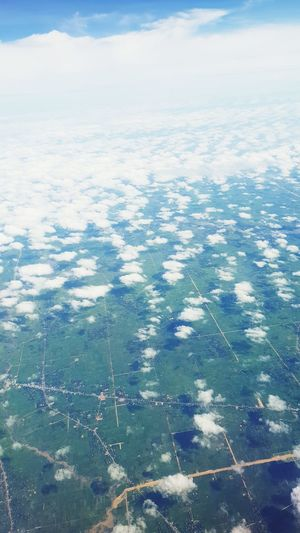 Water Sea Airplane Aerial View Blue Backgrounds Planet Earth City Rural Scene Agriculture