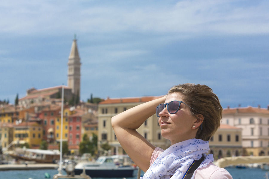 Calm Concept Croatia Cure Enjoy Enjoying Life Foto Goggles Harbour Holiday Istra Istria Lifestyles Novigrad Porec Pula Relax Relaxing Rovinj Sightseeing Summer Sunglasses Sunset Time Out Woman