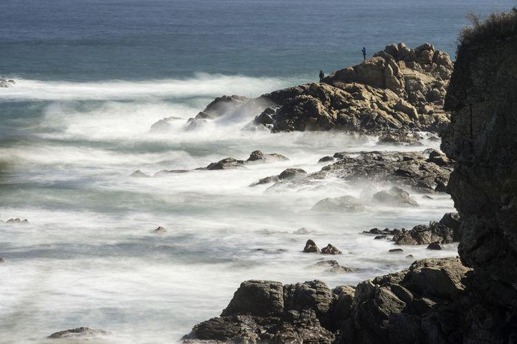 long exposure of sea view from Naksansa, Yangyang, Gangwondo, South Korea Beauty In Nature Day Landscape Long Exposure Naksansa Nature No People Outdoors Power In Nature Rock - Object Scenics Sea Seaside