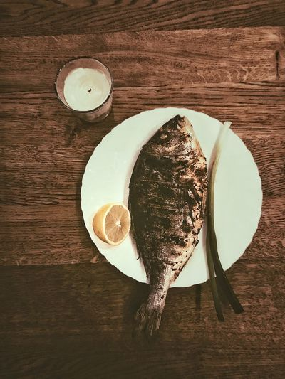 Fish on a plate for dinner