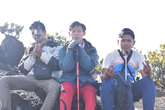 Camping Gede Gede Mountain Gunung Gede Gunung Gede Pangrango Hiking Tired