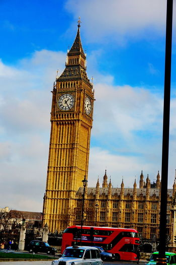 Big Ben London NEX-5T Architecture Building Exterior Built Structure Car City Clock Clock Face Clock Tower Cloud - Sky Day Double-decker Bus Low Angle View No People Outdoors Sky Sony Time Tower Transportation Travel Travel Destinations