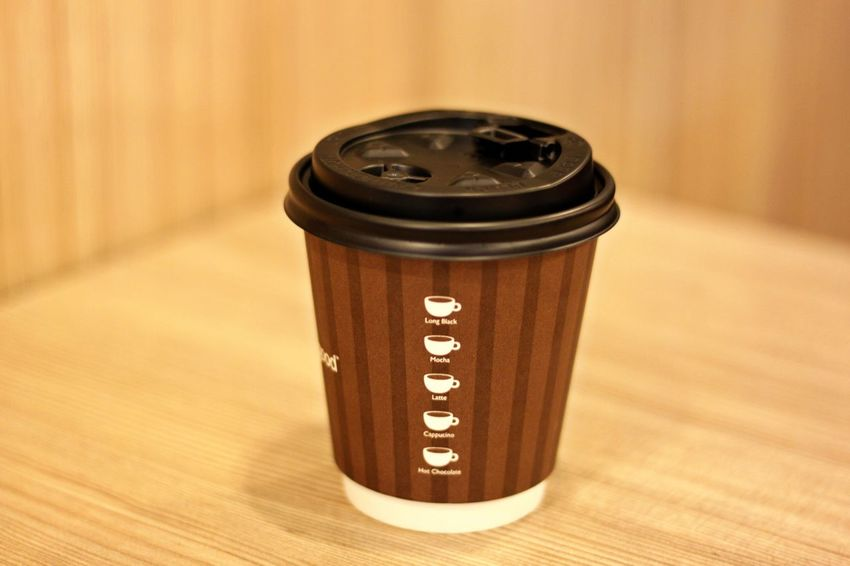 Coffee Time Take Away Cup Can Close-up Coffee Cup Day Focus On Foreground Indoors  No People Table Take Away Coffee Take Away Cups Take Away Drink Take Away Hot Drink Text Wood - Material