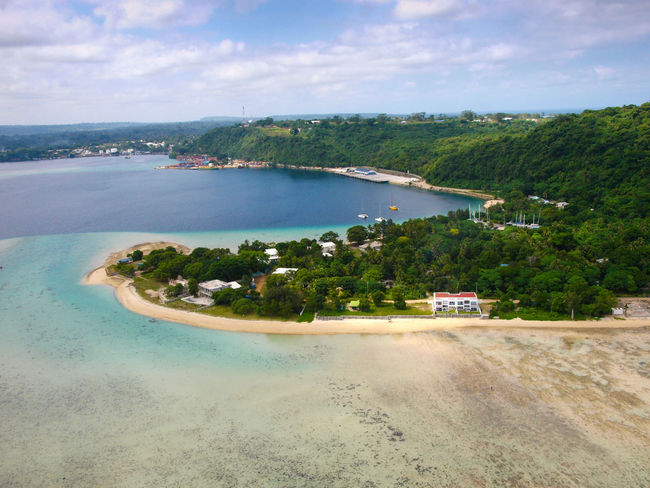 Port Vila Vanuatu Aerial View Basket Beach Beauty In Nature Blue Sky Blue Water Cloud - Sky Coastline Day Fruit Melanesia Nature Nautical Vessel No People Outdoors Pacific Ocean Scenics Sea Sky Tourism Travel Destinations Tree Vivid International Water Woven Baskets