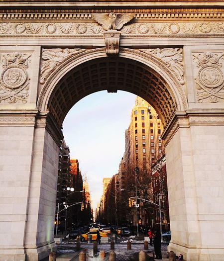 Washington Square Arch, New York City, USA. Photo by Tom Bland. Arch Architecture City Built Structure Outdoors Triumphal Arch Building Exterior Structure Archway Washington Square Arch Washington Square Washington Square Park New York New York City NYC Urban IPhone IPhoneography Manhattan Street Photography Fifth Avenue NYC Lower Manhattan City Life Monument Landmark