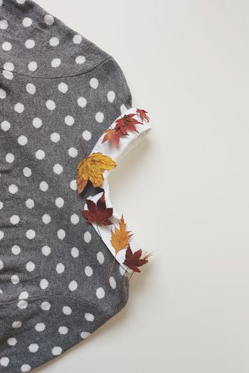 Leaves and dots Pattern No People White Background Cozy Clothes Nature Autumn Foilage EyeEm Best Shots Fashion Minimalism Colored Leaves The Week On EyeEm Tree Large Group Of Objects Full Frame Jumper Dots Pullover Clothing Textile Art Collar Modern