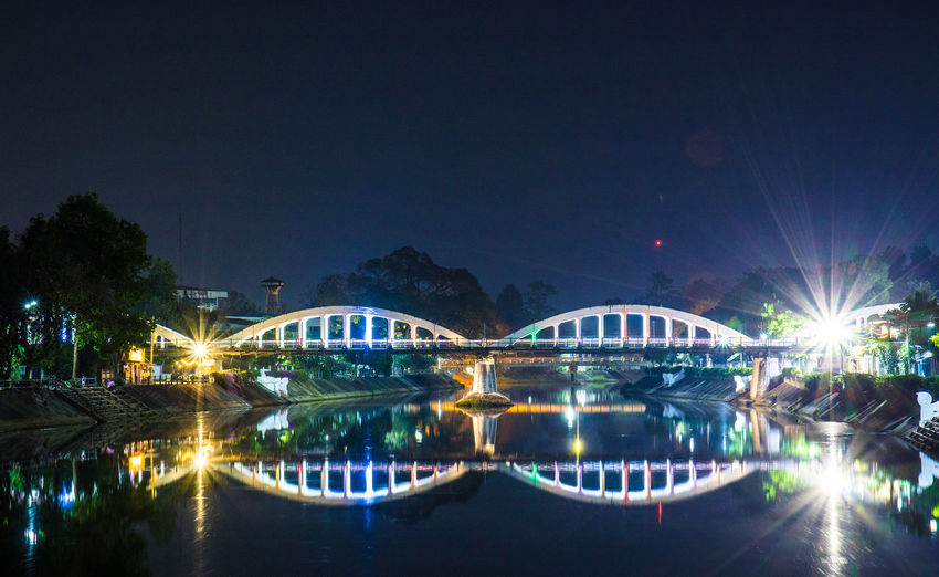 Water Night Sky Building Exterior Nature City No People River Bridge Illuminated Tree Outdoors Travel Destinations Transportation Architecture Reflection Built Structure Arch Bridge Waterfront Connection Bridge - Man Made Structure