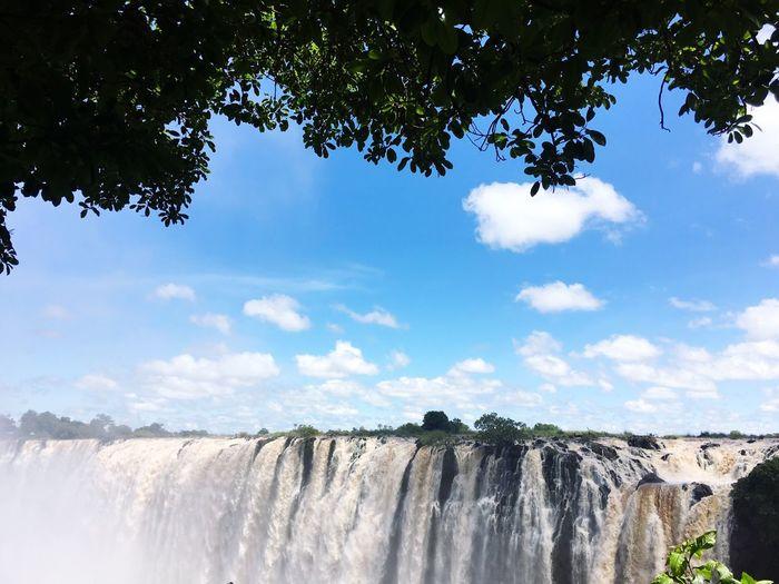 Splendid view of Victoria falls