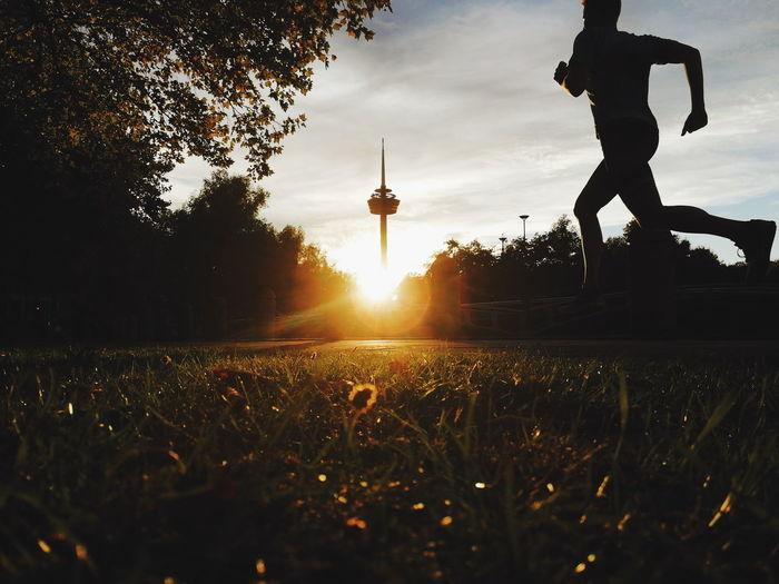 Runner sunset