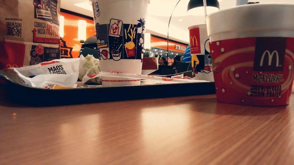 Just chilling. McDonald's Hamburger McFlurry