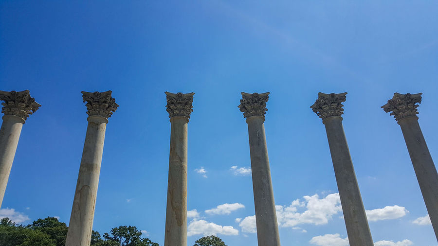 Ancient Civilization City Architectural Column Old Ruin Ancient History Blue Sky Cloud - Sky Travel Archaeology Ruined Abandoned Weathered The Past