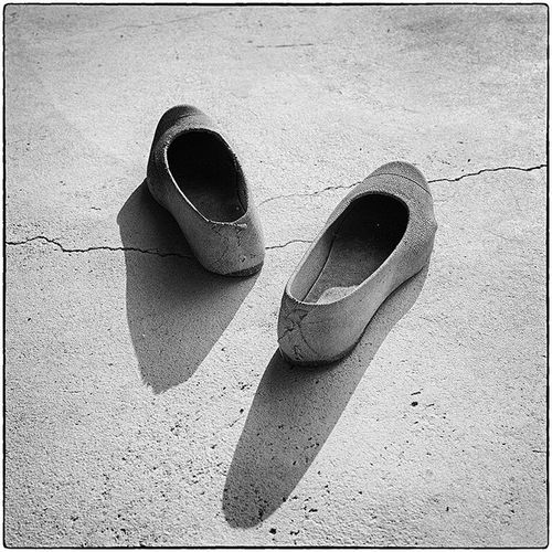 Worn Out Rubber Shoes No People History Blackandwhite Photography 6x6