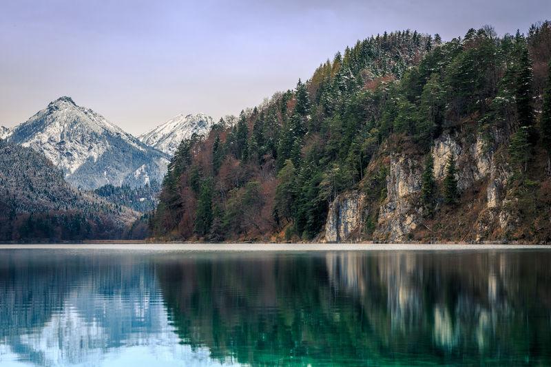 Alpsee Alpsee, Allgäu Berge Landscape Landschaft Mountain Neuschwanstein See Winter