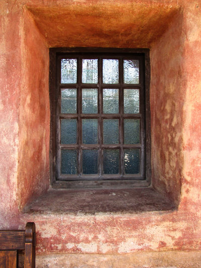 18th Century Historical Building San Juan Capistrano Window And Chair Architecture Handmade Mission House Museum Muted Colors No People Reflective Window