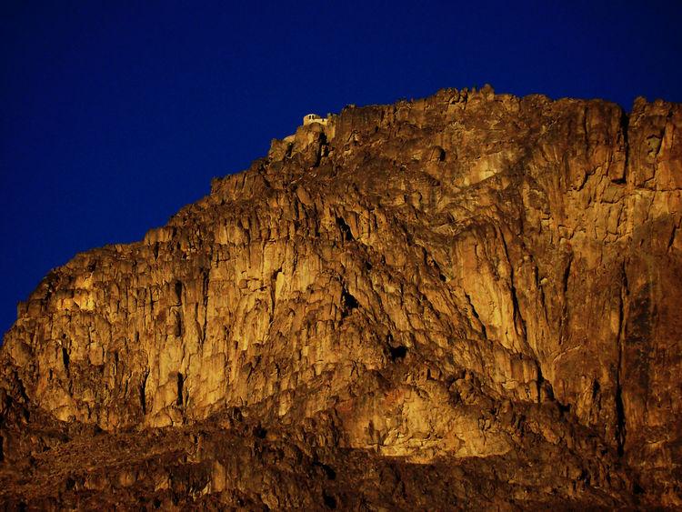 Berge Majestic Mosesberg Moseskapelle Sinai Egypt Sonnenaufgang Wüste