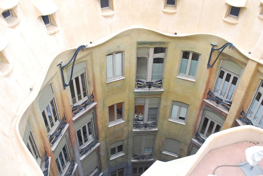 Air Conditioner Architecture Balcony Barcelona Barcelona, Spain Building Exterior Built Structure Casa Mila ( La Pedrera ) Casa Milà Gaudì Day Gaudi Low Angle View Men One Man Only One Person Outdoors People Roof Rooftop Sky SPAIN Window