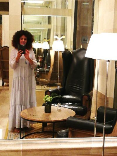 One Woman Only Adult People Standing Barcelona Travel Destinations MajesticHotel Lobby