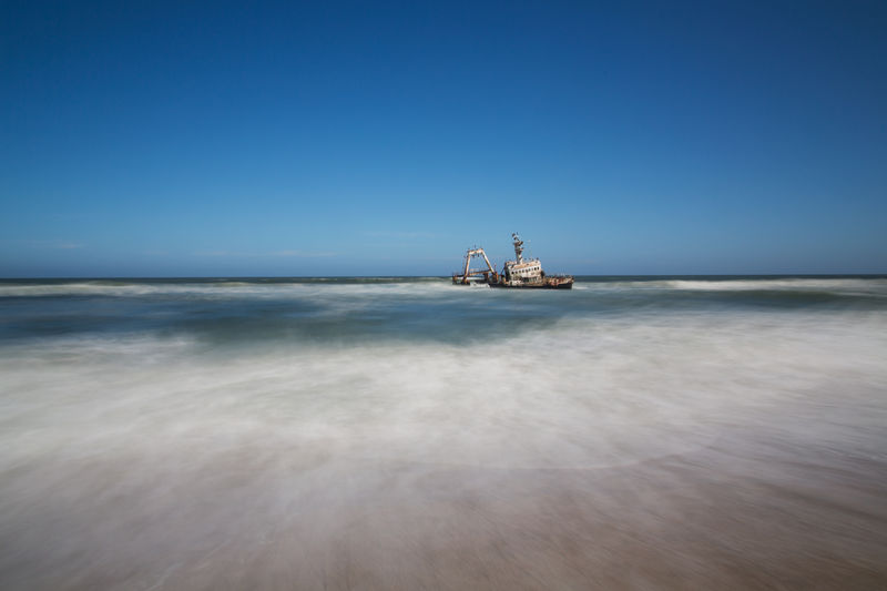 The Suiderkus Shipwreck on Skeleton Coast, Namibia African Holiday Isolated Namibia Skeleton Coast Suiderkus Swakopmund Travel Wreck Adventure Africa Beach Desolation Disaster Landscape No People Ocean Scenics Sea Shipwreck Sinister Water Wild Wreckage Wrecked