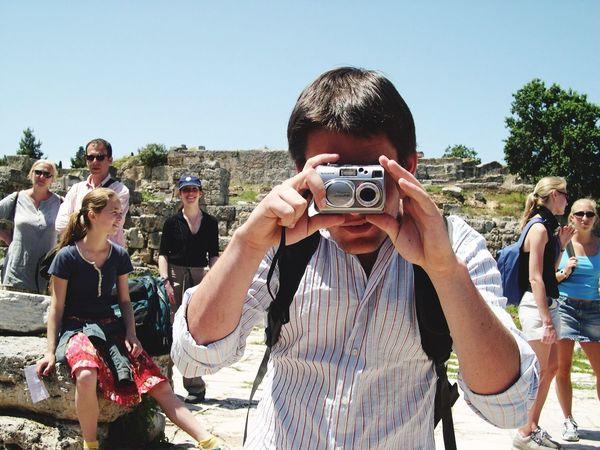 Taking Photos Corinth Greece 2004