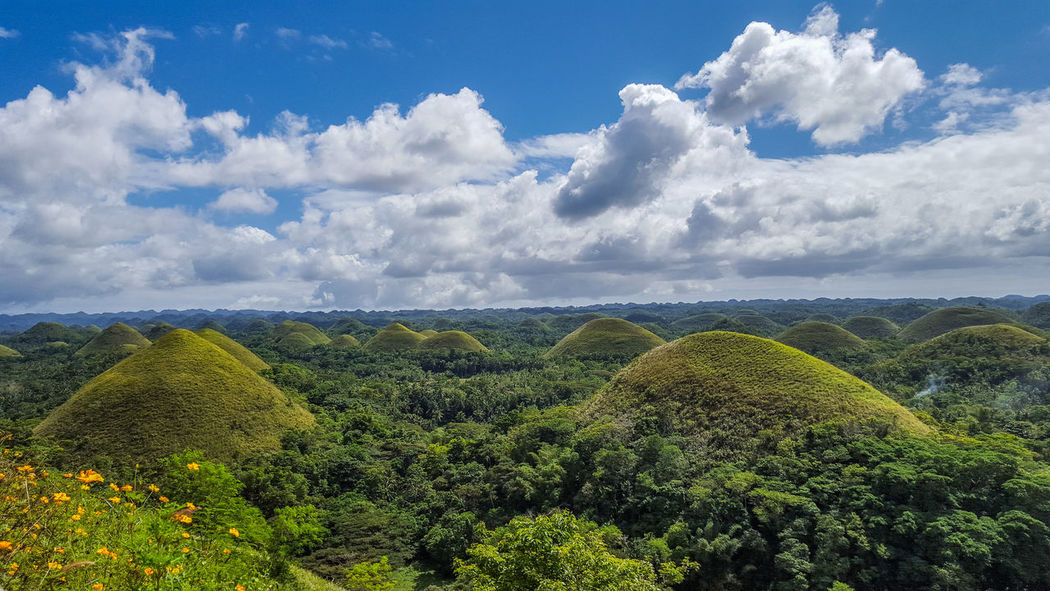 This is another view of the Chocolate Hills in Bohol Philippines Traveling Landscape Nature EyeEm Nature Lover Landscapes Eye4photography  Beauty In Nature Travel Naturelovers EyeEm Gallery Clouds And Sky Check This Out Landscape_Collection Travel Photography Nature_collection Tranquil Scene Eyeem Philippines Hello World Colour Of Life On The Road Perspectives On Nature