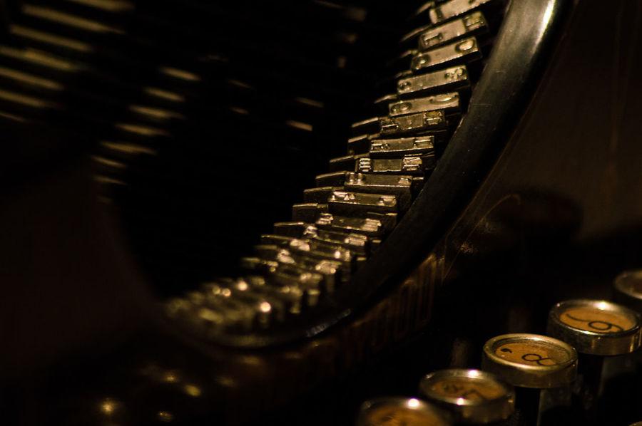 Close-up Details Historical Typewriter Machine Part Machinery Machines Office Old Machines Typewriter