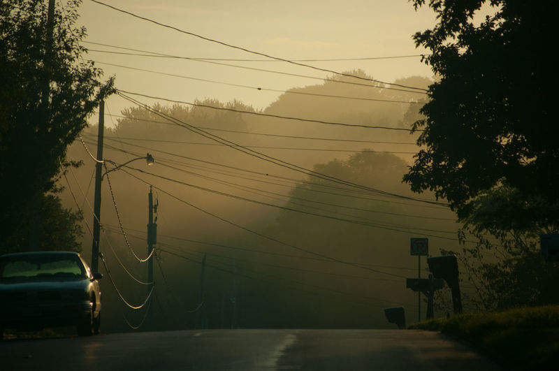 55-200mm D300 Fog Fog In The City Foggy Morning Morning No People Outdoors Power Line  Tree Line EyeEmNewHere