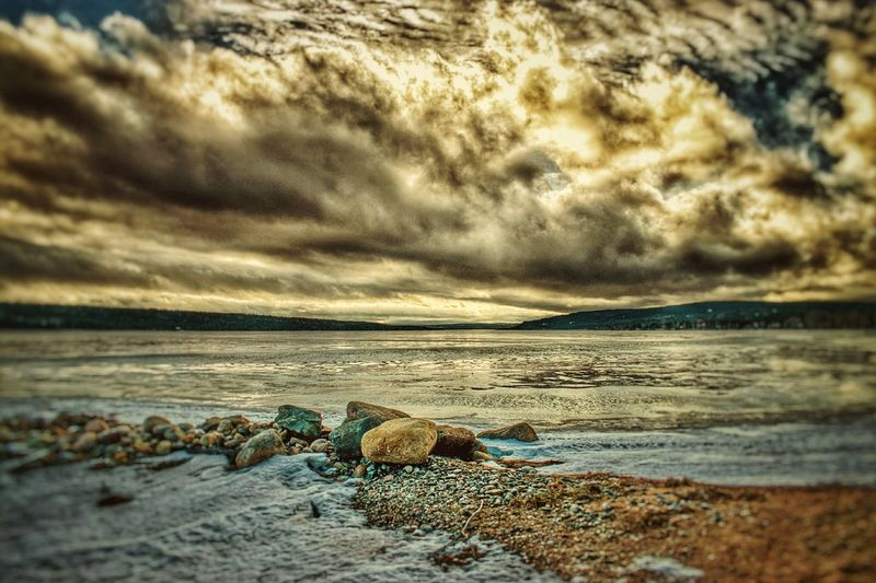 Golden Hour at Gambo Pond. Beach Sea Nature Water Beauty In Nature Sand Outdoors Sunset No People Scenics Sky Tranquility Horizon Over Water Cloud - Sky Wave Day Close-up