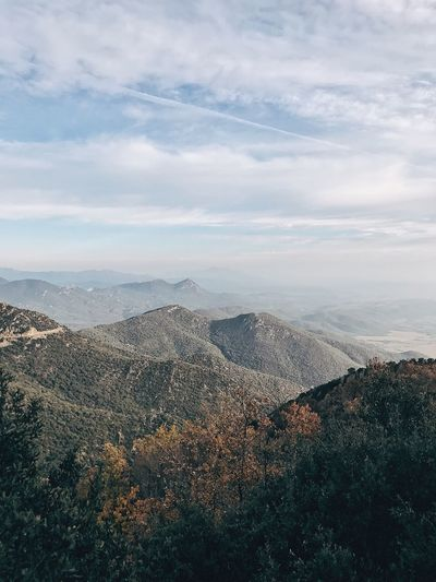 crisp air Beauty In Nature Mountain Scenics Tranquil Scene Nature Tranquility Sky No People Cloud - Sky Landscape Day High Angle View Mountain Range Outdoors Tree