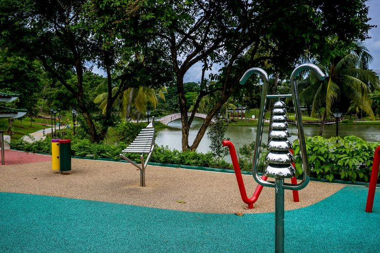 "The Sound playground (?) 2 @ Marsiling Park, previously known as Woodlands Town Garden I was here for a short while, back in June 2018, before children appeared and started making ""music"" I did manage to play a bit though Chimes Public Park Sound Playground Day No People Outdoor Play Equipment Park Playground"