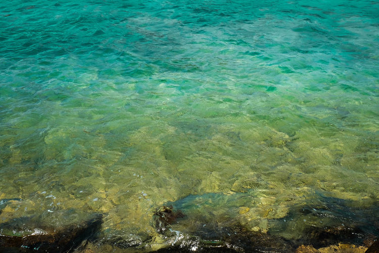 EyeEm Best Shots EyeemPhilippines EyeEm Green Color Green Beach Beach Life Water Backgrounds Full Frame High Angle View Textured  Close-up Clear Peaceful Scene Turquoise Colored Turquoise UnderSea Water Surface Rippled Shallow Calm Refraction Surface My Best Photo