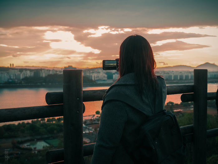 Photography Streetphotography Random People People Photography Autumn EyeEm Selects Photo Messaging Photography Themes Wireless Technology Technology Women Photographing Sunset Selfie Young Women Mobile Phone Observation Point