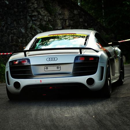 Audi R8 during a rally in Carpathian Mountains R8 Audi R8 Motorsport Sinaia Forever Sinaia Rally 2016