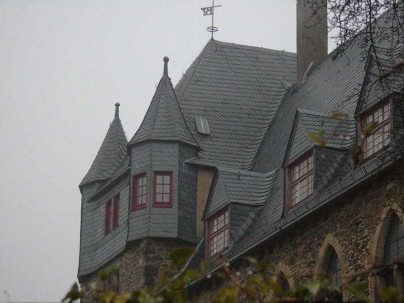 A cold and rainy trip to Solingen Burg Architecture Cable Railway Castle Mystical Tree Wooden