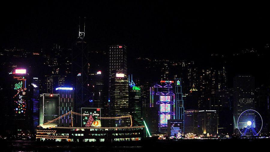 Night HongKong Vlada City Life