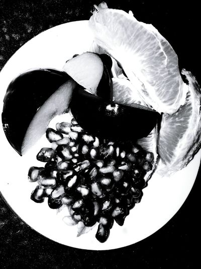 Monochrome Photography Food And Drink Freshness Overhead View