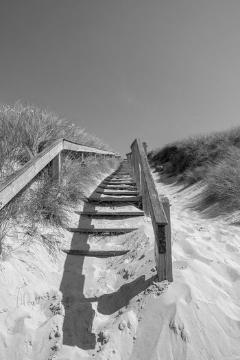 Bw Fujifilm X-t20 Visitdenmark Sky Land Nature Beach Sand Day Direction The Way Forward No People Architecture Staircase Outdoors Shadow