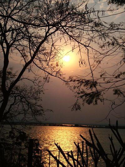 Sunset Reflection Rioparana Enjoying Life