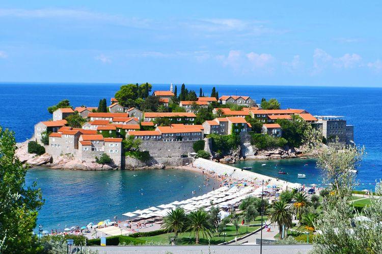 View of coastal town