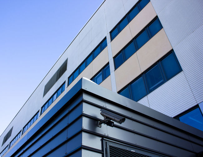 Architecture Blue Building Building Exterior Built Structure City Clear Sky Day Low Angle View Modern No People Outdoors Sky Window EyeEmNewHere