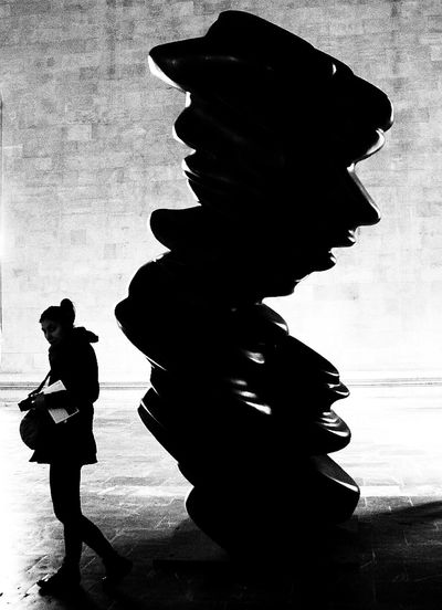threatening Art Is Everywhere Fine Art Photography Art Arts Culture And Entertainment Black And White Commination Dreamy Fantasy Illustration Indoors  Lifestyles Menace Moody People Sculpture Silhouette Threatening Vision Women