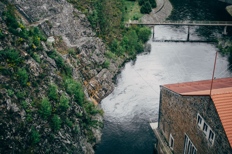 View from a water dam in Sucha, Poland Water Architecture High Angle View Built Structure Nature Dam River Tranquil Scene Outdoors No People Hydroelectric Power Poland Elektrownia Wodna Zlotniki
