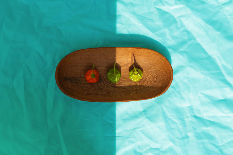High angle view of food floating on swimming pool