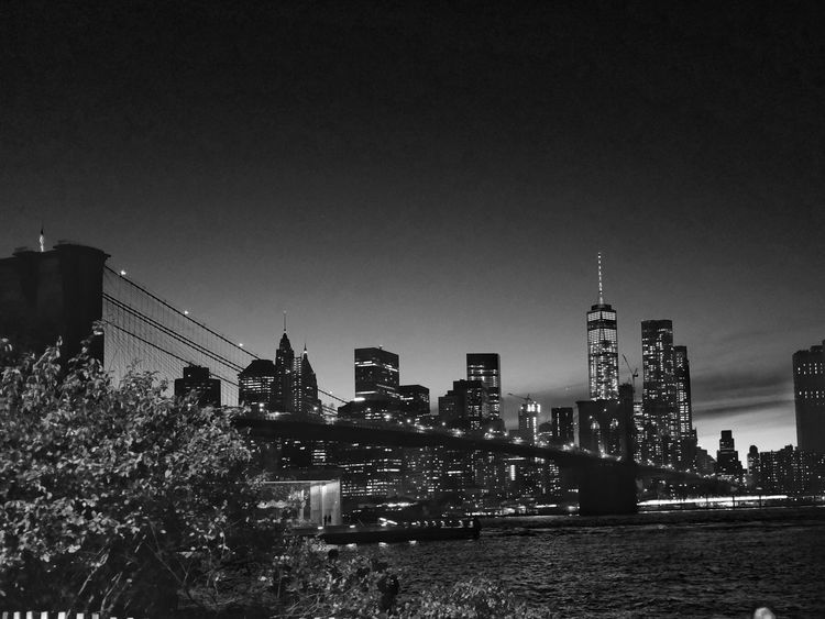 Manhattan by night, New York. USA New York Manhattan Brooklyn Bridge Night Street Street Photography X100t Fujifilm Cities At Night