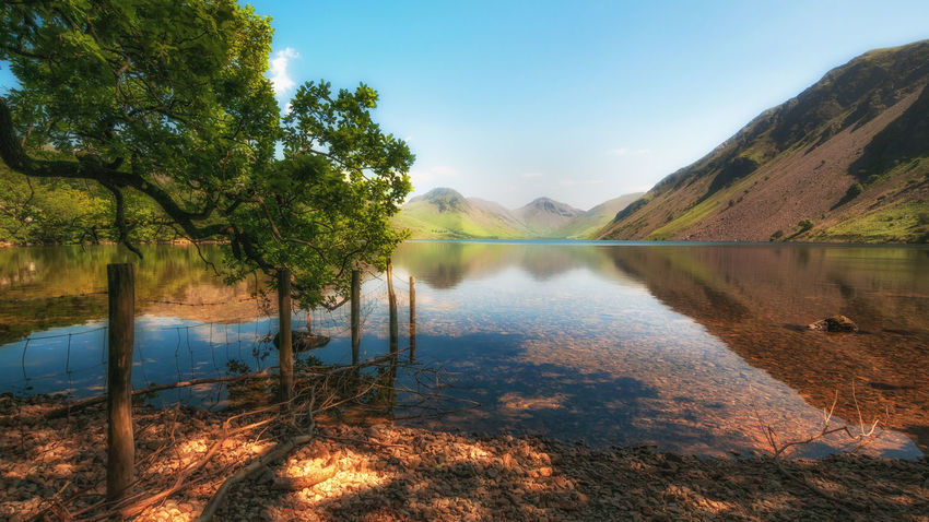 ~Dreamy Wast Water~ Water Reflection Lake Outdoors Nature Landscape Mountain Lake District Wastwater Beauty In Nature Tree Scenics Sky No People Taking Photos Nikon Landscape_Collection Streamzoofamily Landscape_photography Malephotographerofthemonth Tranquility Cumbria Beauty In Nature EyeEm Best Shots Tranquil Scene