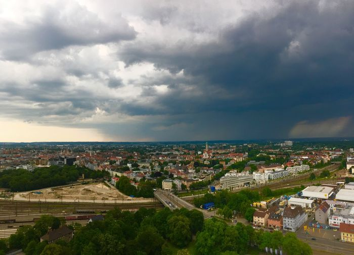 Thunderstorm 🌩 in Augsburg Freedomberlin Doomsday Clouds And Sky Colours Of Nature Nature Photography EyeEm Best Shots Eyemphotography EyeEm Selects EyeEmBestPics EyeEm Gallery Eye4photography  EyeEm Nature Lover Dramatic Sky Clouds Thunderstorm Travel Tranquility Cityscape Architecture Cloud - Sky City Built Structure Sky Cityscape Building Travel Destinations High Angle View Residential District Nature