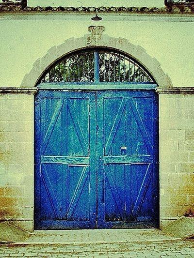 Door Blue Urbex Simplicity