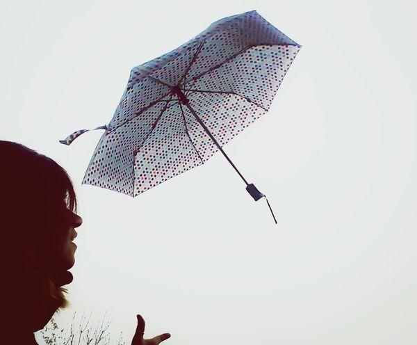 Flying Umbrella's Umbrella Dots Dotsdotsdots Rainy Days Rainy Day Silhouette Silhoutte Photography EyeEm Gallery EyeEm In The Air