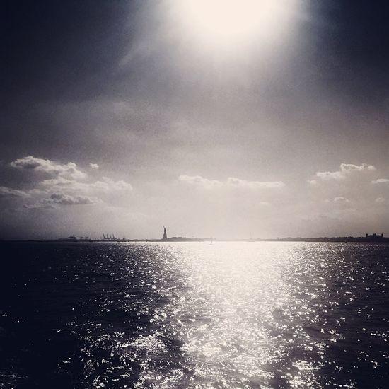 Shiny. Summer Sunshine New York Harbor Statue Of Liberty Ferry Governors Island Lot71camera